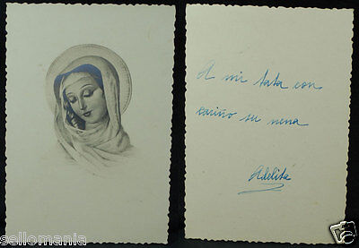 Old Blessed Virgin Mary Holy Card Andachtsbild Santini Estampa        Cc891