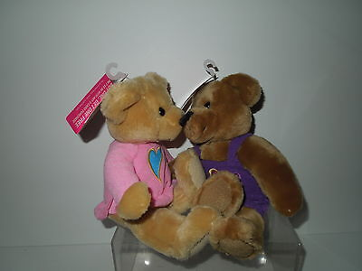NWT Hallmark Love & Kiss Kiss Plush Bears - Dual Hearts