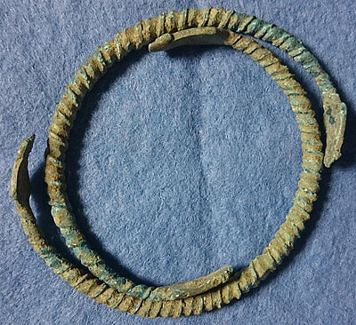 LAC Greek, Two Bronze Bracelets, c. late 6th century BC NICE !!