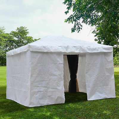 Outsunny 10x12ft Gazebo Cover Party Tent Canopy Sidewalls Sun Shelter w/Doors