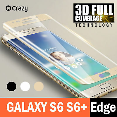 For Samsung Galaxy S6 Edge Plus Full Coverage 3D Tempered Glass Screen Protector