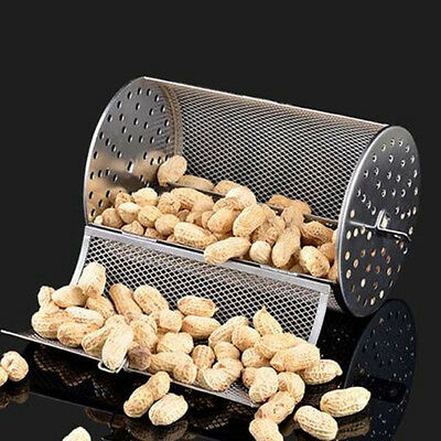 New Stainless 2lb Capacity Coffee Beans Peanut BBQ Rotisserie Roaster Drum Oven