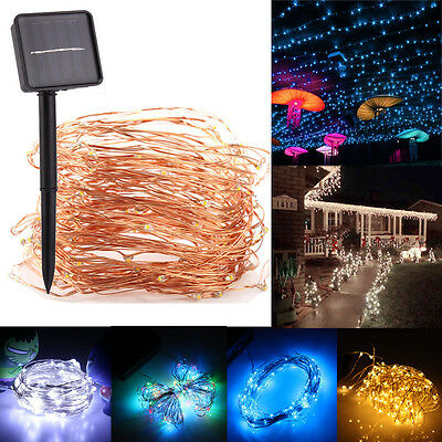 10M/33ft 100LED Solar Power Outdoor Fairy String Lights Garden Party Waterproof