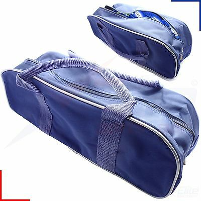 3 Bowls Carrier Holdall Short Handle Bowl Carry Bag - Blue