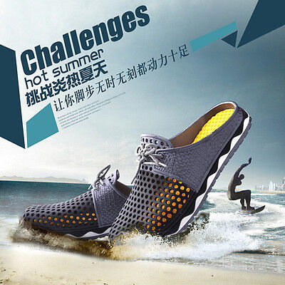 Popular Summer Hollow Breathable Shoes Couple Casual Fashion Sandals Slippers