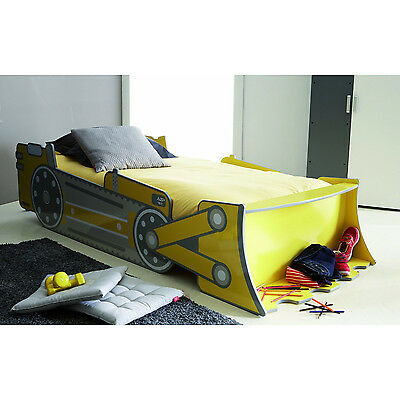 Boys Bed Digger JCB Kids Bed Childs Car Novelty Childrens Single Scoop Bulldozer