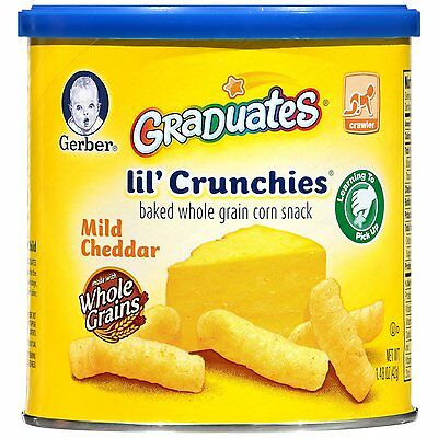 Gerber Graduates Lil' Crunchies, Mild Cheddar, 1.48-Ounce (Pack of 6)-09600354