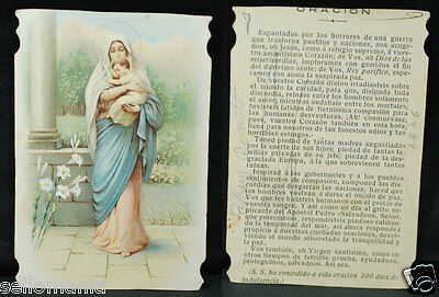 Old Blessed Virgin Mary & Child Jesus Holy Card Year Andachtsbild Santini  Cc921