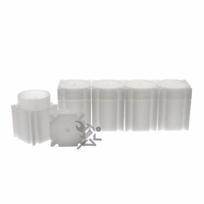 CoinSafe Half Dollar Square Coin Storage Tube Holders for Half Dollars Qty: 5