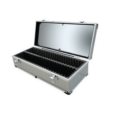 Aluminum Storage & Display Box Case Holds 50 Pcgs Or Ngc Certified Slab Coins