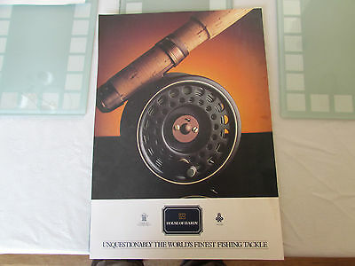 vintage hardy alnwick golden prince fly fishing reel poster advert  1