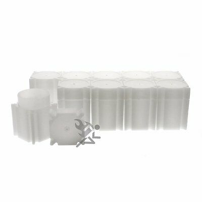 CoinSafe Half Dollar Square Coin Storage Tube Holders for Half Dollars Qty: 10
