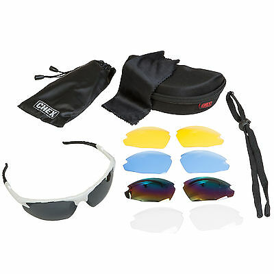 CHEX Ace Cricket Sportsglasses Sunglasses 5 Alternative Lenses Inc Tinted Case