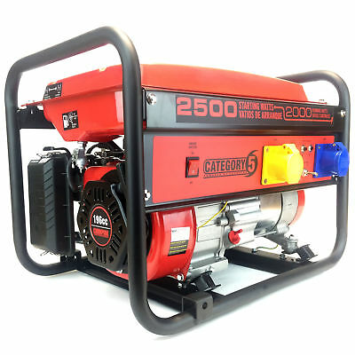 Portable Petrol Generator 3kVA 6.5HP - Powered By Champion - 3 Year Warranty