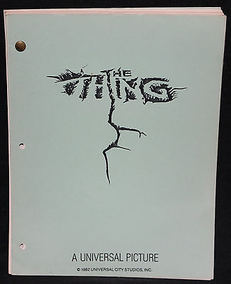 John Carpenter's The Thing Final Draft Screenplay Script - Universal - 1982