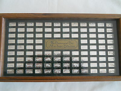 Franklin Mint The Centennial Car Mini-Ingot Collection STERLING SILVER .925