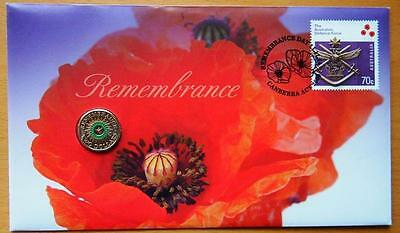 Australian Remembrance - 2014 Pnc Stamp And $2 Coin Covers