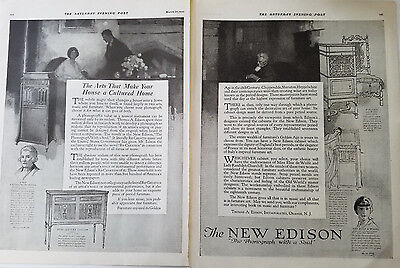 1920 New Edison XViii Century English William and Mary Phonograph Ad