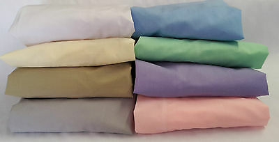 COT SHEET NEW Flat Fitted Set BABY 'WHITE ONLY' Standard Cotton Blend Crib Bed
