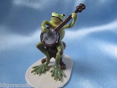 Hagen Renaker Banjo Player Frog 3180 Figurine Ceramic Miniature NEW