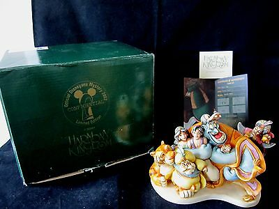 Disney Harmony Kingdom Aladdin Group Hug Marble Treasure Box MIB COA Signed 2002