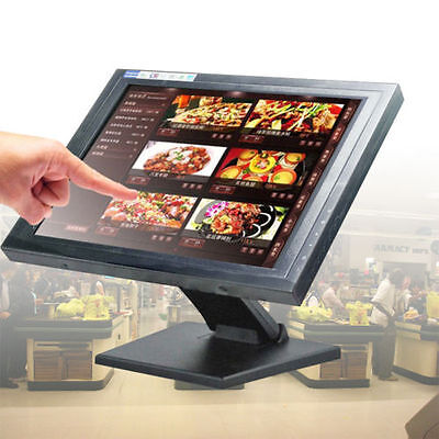 "15"" USB TouchScreen LED Monitore Registrierkasse mit multi-position POS Ständer"