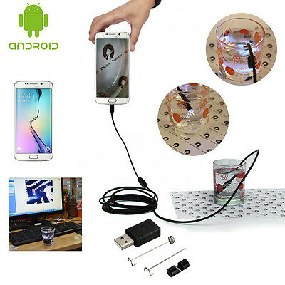 5.5/7mm Android Endoscope OTG Phone Lens Inspection Pipe HD Micro USB Camera LED