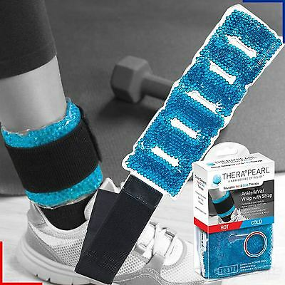 Therapearl Ankle / Wrist Hot Cold Ice Sports Wrap Strap Reusable Injury Relief