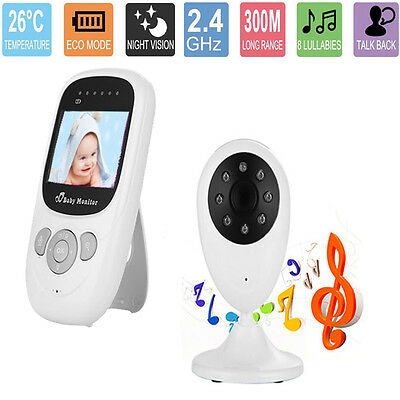 2.4GHz Wireless Digital LCD Color Baby Monitor Camera Audio Video Night Vision