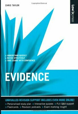 Law Express: Evidence (Revision Guide) by Taylor, Chris Paperback Book The Cheap