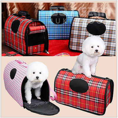 Portable Carrier Pet Dog Cat Puppy Travel Carry Tote Cage Bag Crates Kennel UK