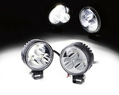 2 pack 9W 3 LED Spot LED Light Off road Round Work Lamp For Truck 4WD ATV UTV