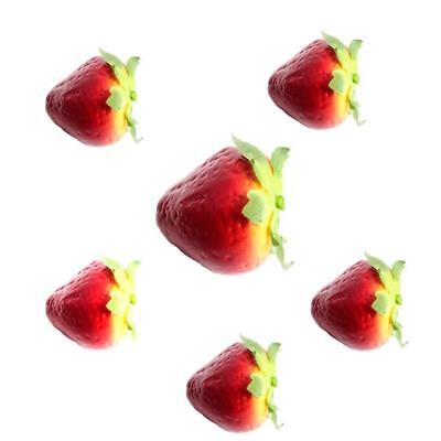 Artificial Strawberry - Decorative Plastic Fruit and Props by Shelf Edge