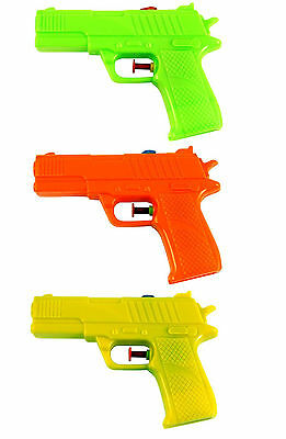 Childrens Water Pistols 15Cm In Length Various Colours