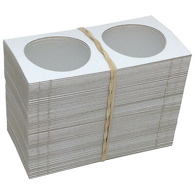 "100 2"" x 2"" MYLAR CARDBOARD FLIPS FOR COLLECTOR CASINO TOKENS - FREE SHIPPING *"
