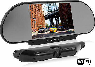 "BOYO Vision VTC464RB 6"" WiFi Enabled Wireless Rearview Mirror & Backup Camera"