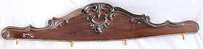 Rosewood Double Side Curved Footboard Crest Pediment Architectural Decorative