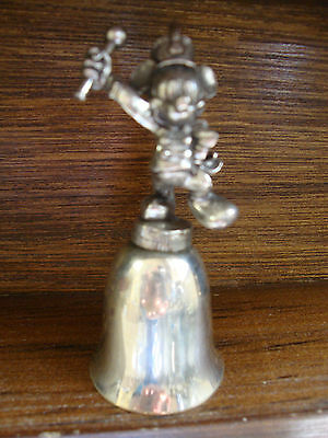 NE Collectors Society Disney Character Silver Bells-Mickey Mouse