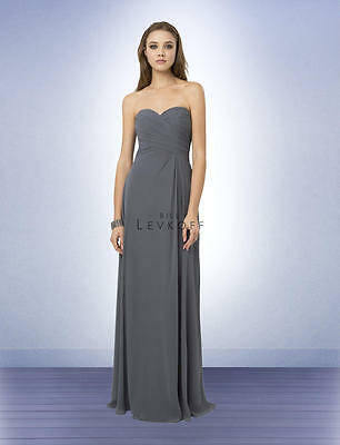 cdd7d5ebdc Bill Levkoff Bridesmaid Dress 776 Prom Wedding Chiffon Long Gown Strapless  NEW