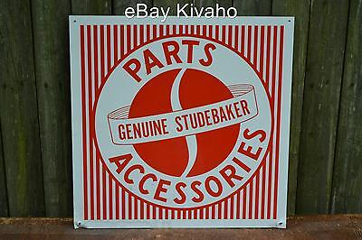 "Vintage Original Studebaker Parts Accessories Sign Tin Sign 15"" x 15"""
