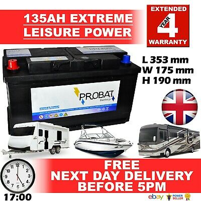 12V 135AH 135 AH Leisure Battery DEEP CYCLE for Motorhome / Caravan / Campervan
