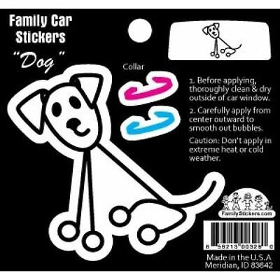 Family Car Sticker-Color-Dog with Collar