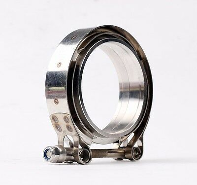 """3"""" Turbo Down-pipe Wastegate Exhaust Stainless V-band Bolt Clamp Flange 76mm"""