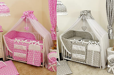 10pcs BabyBeddingSet /Bumper/Canopy /Holder/Quilt/CANOPY for Cot Bed or Cot