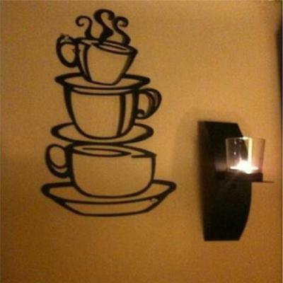 Novelty Coffee Decals House Cup Removable Wall Stickers Home Kitchen Decor LG