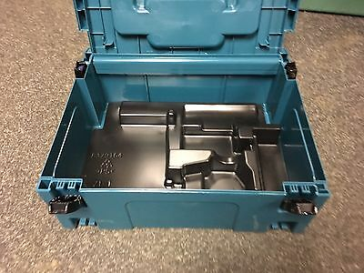Makita Plastic Carry Case Type 2 J-Box MAKPAC Connector Tool Box + Drill Inlay
