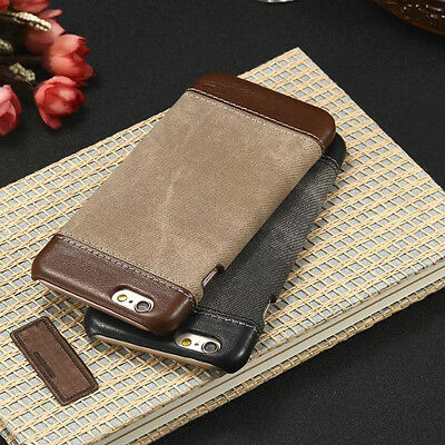 Luxury Genuine PU Leather Hard Back Case Cover For iPhone XS Max XR X 8 7 6 Plus