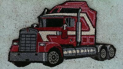 Kenworth Truck Profile Cut Natural Coir on PVC Backing