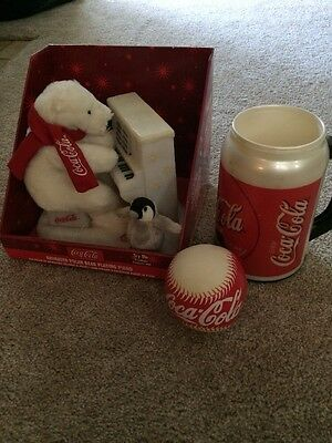Coca-Cola Polar Bear Mug Baseball Collectibles Lot See Description