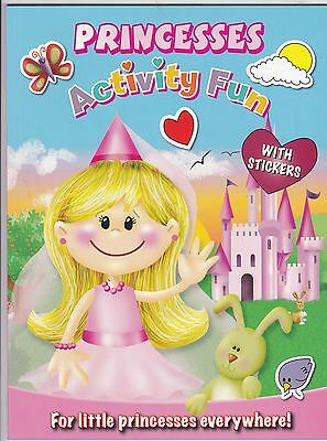 Princesses (Princess) Activity Book with stickers  - NEW